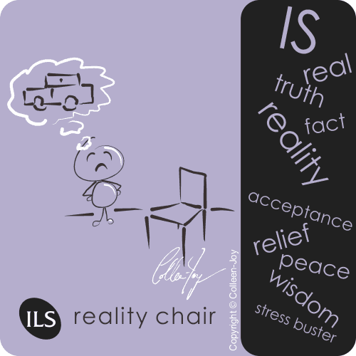 Use the reality chair teaching to find peace