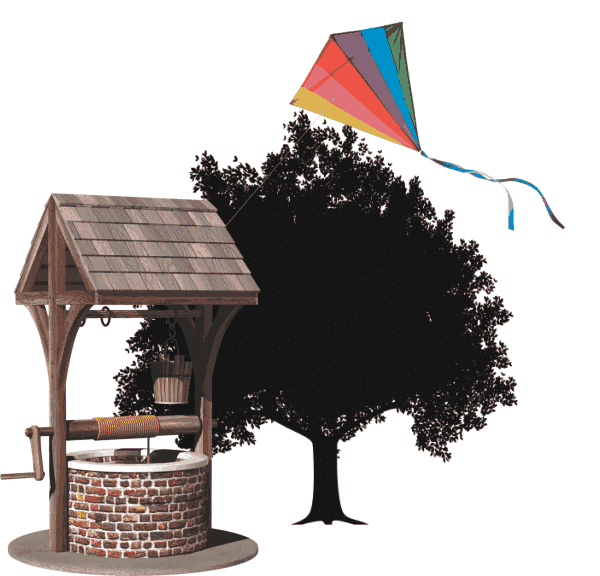 well tree kite