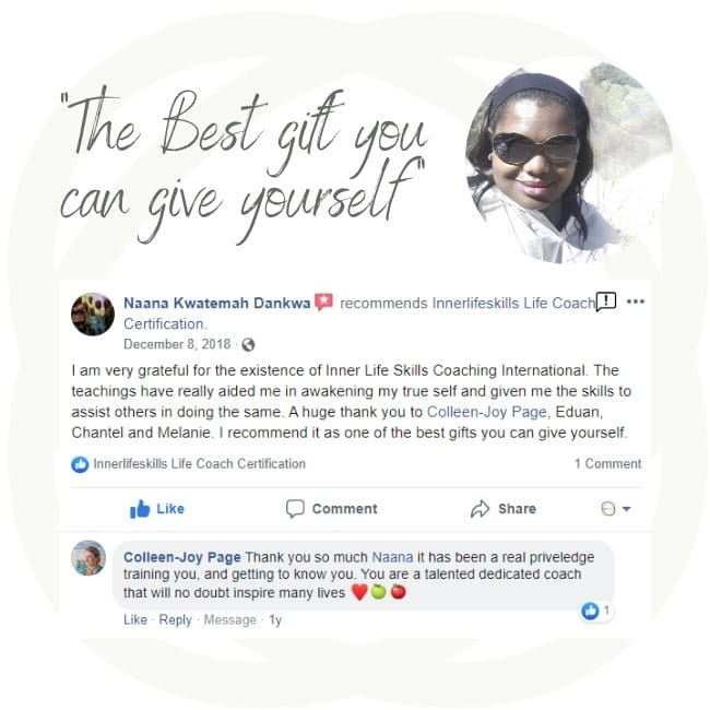 Life Coach gives review of Life Coach Training online